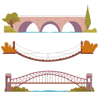 Brückenset mit dekorelementen