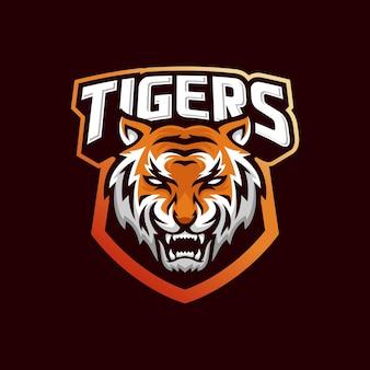 Brüllender tiger logo design