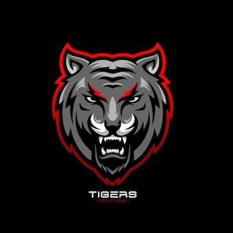 Brüllendes tiger-logo