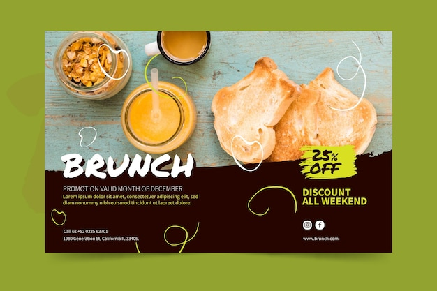 Brunch-banner-konzept