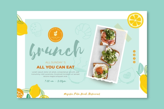 Brunch banner vorlage design
