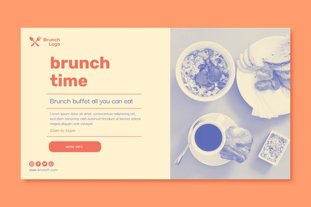 Brunch banner vorlage