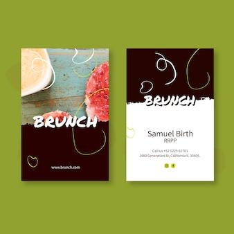 Brunch doppelseitige visitenkarte