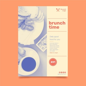Brunch flyer vorlage
