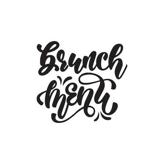 Brunch menü schriftzug design
