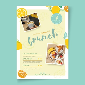 Brunch poster vorlage design
