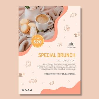 Brunch poster vorlage design
