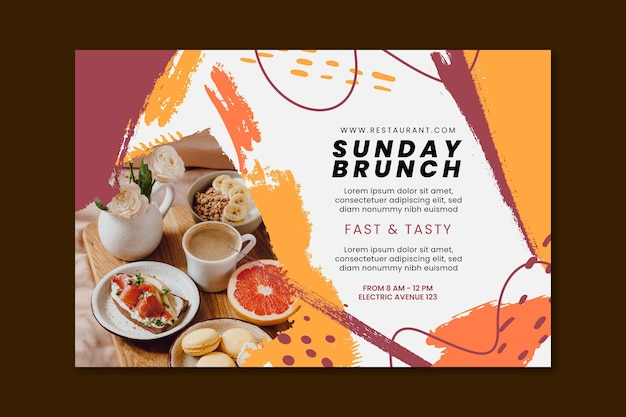 Brunch restaurant banner vorlage