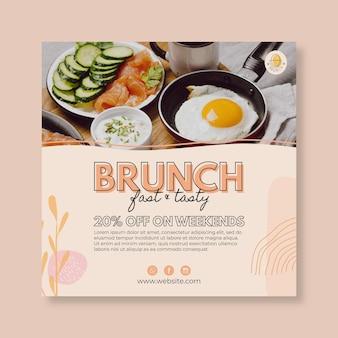 Brunch restaurant flyer vorlage