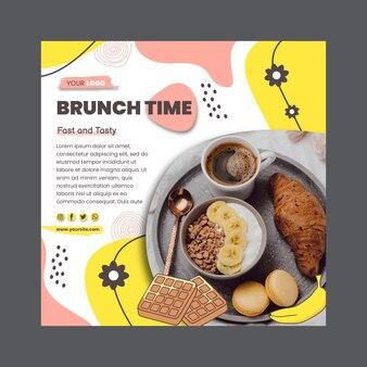 Brunch time square flyer