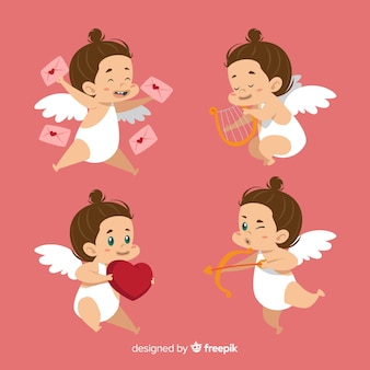 Brunette-valentinsgrußamorsammlung
