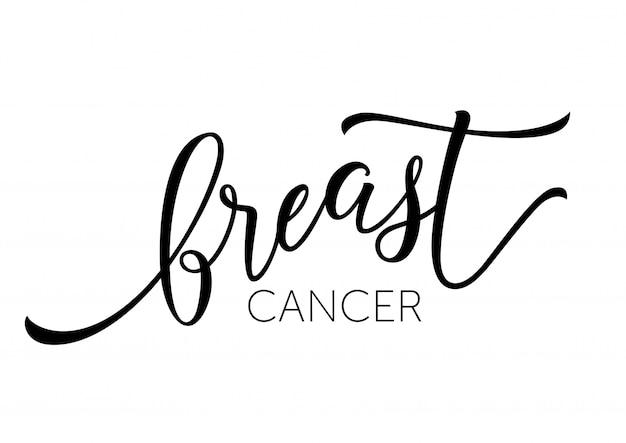 Brustkrebs-aufschrift