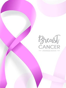 Brustkrebs awarness monat illustration design