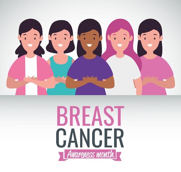 Brustkrebs-bewusstseins-kampagnenkarte