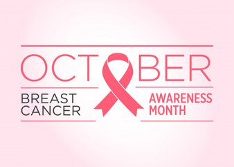 Brustkrebs. Bewusstseins-Monat-Banner