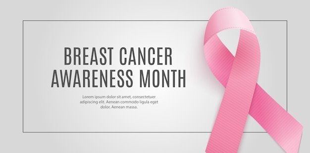 Brustkrebs-bewusstseins-monat-rosa band-hintergrund