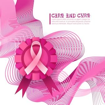 Brustkrebs-bewusstseins-monat-rosa-band-symbol