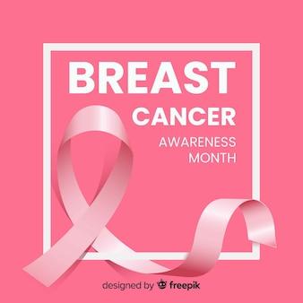 Brustkrebs-bewusstseinsband hintergrund