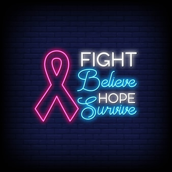 Brustkrebs-bewusstseinsmonat-leuchtreklame-arttext