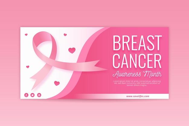 Brustkrebs-bewusstseinsmonats-bannerentwurf