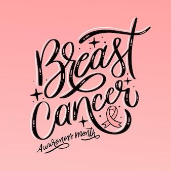 Brustkrebs-bewusstseinsmonatsbeschriftung