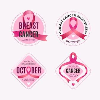 Brustkrebs-bewusstseinsmonatsetiketten-sammlung