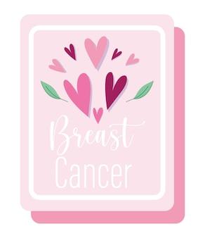 Brustkrebs-bewusstseinsmonatsherzen lieben motiviertes rosa plakat