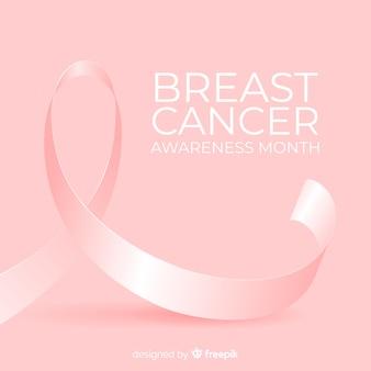 Brustkrebs-bewusstseinsmonatshintergrund mit rosa band