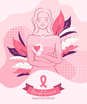 Brustkrebs-bewusstseinsmonatskonzept