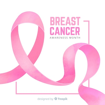 Brustkrebsbewusstsein mit bandaquarell