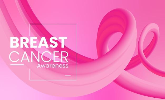 Brustkrebsbewusstsein mit flüssigen formen