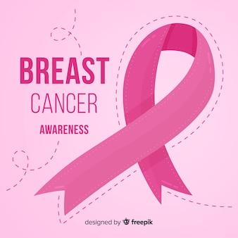 Brustkrebsbewusstsein mit rosa band