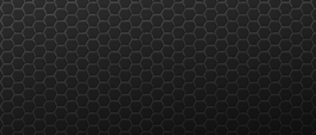 Brutaler schwarzer sechseckiger dekorationshintergrund futuristisches geometrisches polygonales gitter