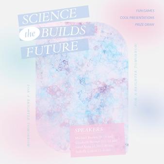 Bubble art science vorlage vektor faire ästhetische social media anzeige aesthetic