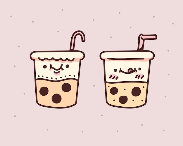 Bubble milk tea design. bubble milk tee. bubble milk tea doodle