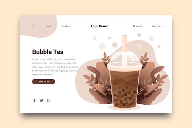 Bubble tea landing page