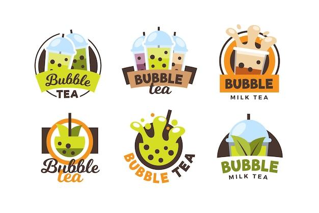 Bubble tea logo sammlung