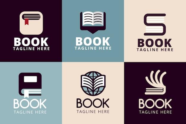 Buch logo vorlagenpaket