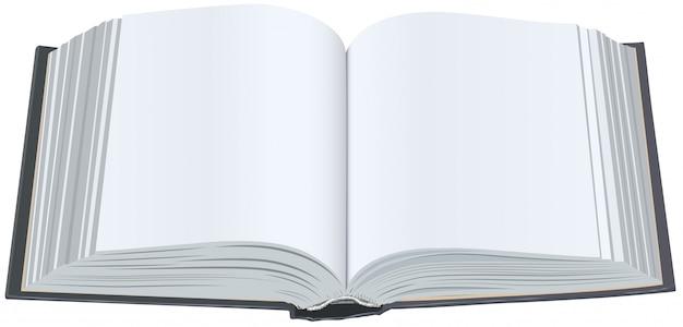 Buch mit sauberen blättern öffnen. buch mit leeren seiten öffnen