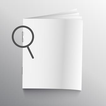 Buch- oder zeitschriftenmodell mit heftklammerstift