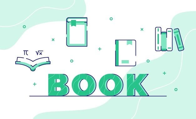 Buch typografie wortkunst hintergrund