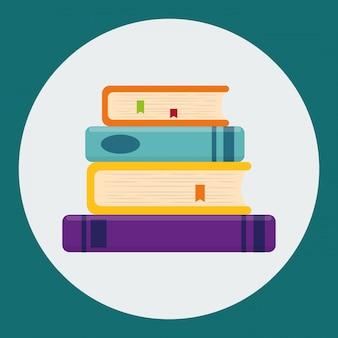 Buch- und e-learning-ikonendesign