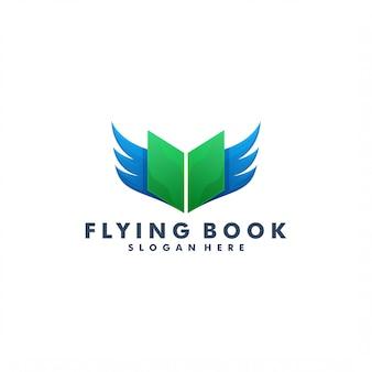 Buch- und flügellogo