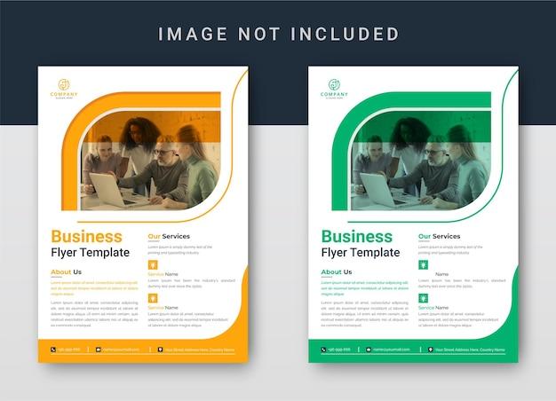 Buchcover-designvorlage oder corporate cover-design und cover für broschüren-unternehmensprofil