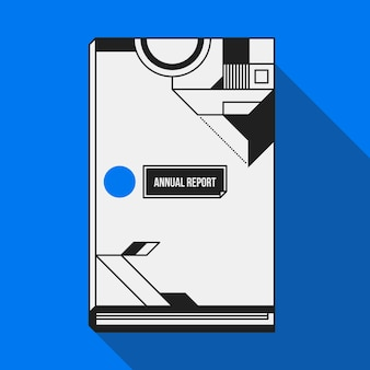 Buchdeckel / druck design vorlage mit abstrakten geometrischen formen. nützlich für banner, abdeckungen und plakate.
