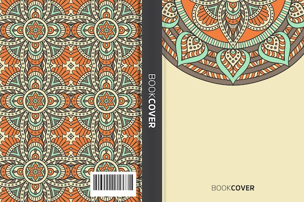 Bucheinband mit mandala-element-design
