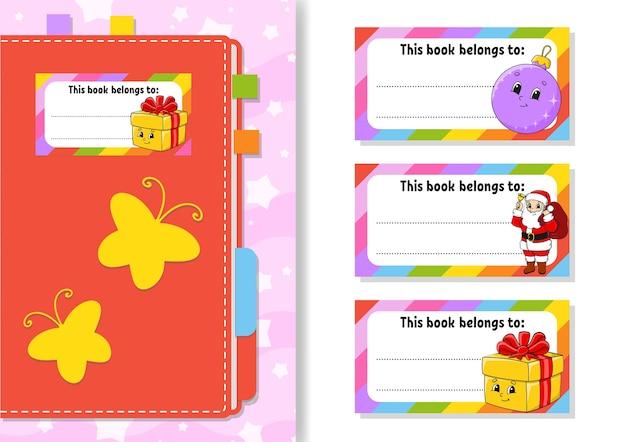 Buchetikettenaufkleber für kinderillustration
