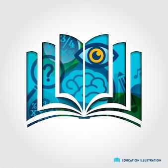 Buchform hintergrund design