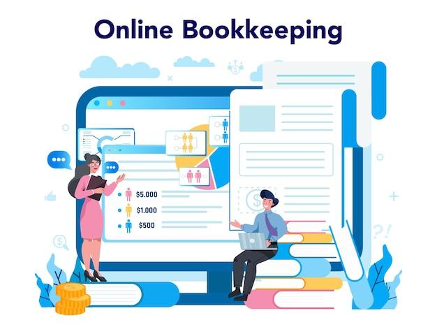Buchhalter online-service oder plattform