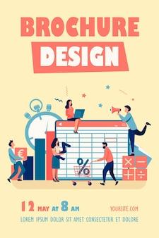 Buchhaltung app illustration flyer vorlage